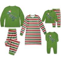 Christmas Dinosaur Family Matching Pajamas Set in Green