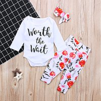 (Only 6-9M in Stock) Worth the Wait Floral Outfit