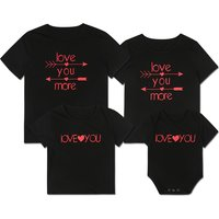 'I Love More' Short-sleeve Family Matching Tee in Black