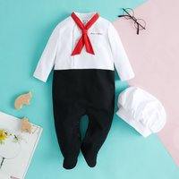 Restaurant Chef Costume Cotton Jumpsuit with Hat for Baby