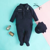 BBPD Police Chief Costume Cotton Jumpsuit with Hat for Baby