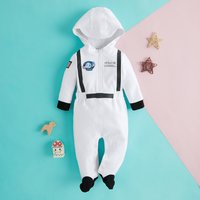 APOLLO 88 Astronaut Costume Cotton Hooded Jumpsuit Set for Baby
