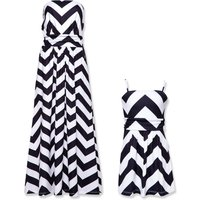 Chevron Stripe Summer Dress Matching Styles