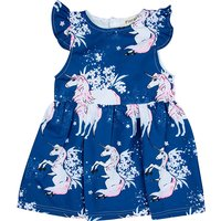 Chic Unicorn Pattern Flutter Sleeves Ruffled Dress for Baby Girl