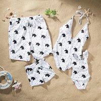 Unicorn Printed Family Matching Swimwear
