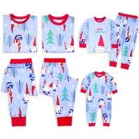 Funny Santa Print Christmas Family Matching Pajamas