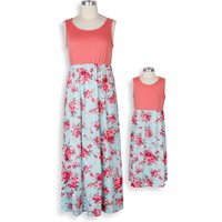 Mommy and Me Pretty Floral Maxi Dress