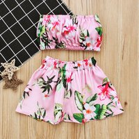 2-piece Floral Tube Top and Shorts Set