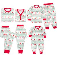Cute Deer Print Christmas Pajamas Family Matching