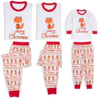 Merry Christmas Reindeer Print Family Matching Pajamas