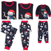 Lovely Robot Santa Christmas Family Matching Pajamas