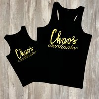 Chaos Coordinator Matching Tank Tops in Black