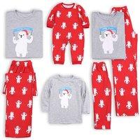 Merry Christmas Bear Print Family Matching Pajamas
