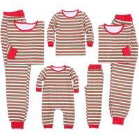 Festive Stripes Family Matching Christmas Pajamas