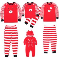 Lovely Red Reindeer Christmas Family Pajamas