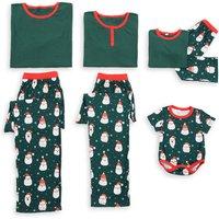 Jolly Santa Green Christmas Pajamas Family Macthing