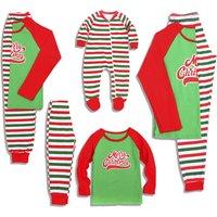 Merry Christmas Striped Family Matching Pajamas