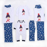 Lovely Snowman and Snow Family Matching Pajamas