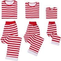 Festive Stripes Plush Lining Christmas Matching Pajamas Set