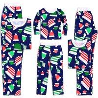 Christmas Hat Print Family Matching Pajamas Set