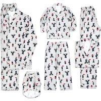 Christmas Cactus Family Matching Pajamas in Grey