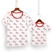 Mommy and Me Digital Shoes Printed Matching Top