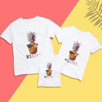 Cool Merica Pineapple Print Family Matching Tee