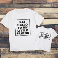 Daddy and Me Little Friend Printed Matching Top
