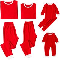 Comfy Solid Matching Pajamas in Red