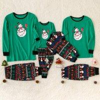 Christmas Snowman Family Matching Pajamas