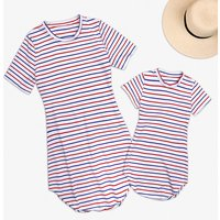 Mommy and Me Comfy Stripes Short-sleeve Cotton Dress