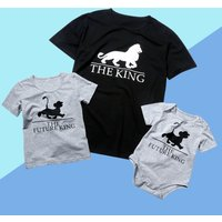 Cool Lion The King Daddy and Me Matching Top