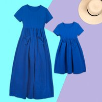 Mommy and Me Solid Summer Holiday Matching Dress