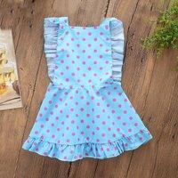Ruffle Polka Dot Backless Dress