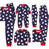 Lovely Santa Pattern Matching Christmas Pajamas
