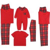 Trendy Classic Plaid Short-sleeve Matching Pajamas
