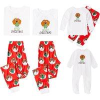 Festive Puppy Print Family Matching Pajamas