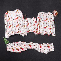 Comfortable Family Matching Pajamas with Funny Reindeer Printed