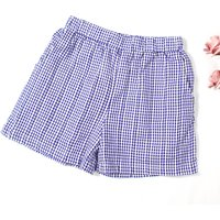 Trendy Blue Plaid Shorts