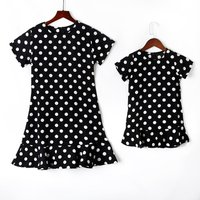 Mommy and Me Short-sleeve Sweet Dots Matching Dress