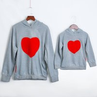 Mommy and Me sweet heart Print Long-sleeve Pullover