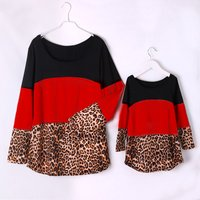 Mommy and Me Leopard printed Long Sleeve T-shirt