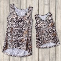 Mommy and Me Leopard printed Tank Top