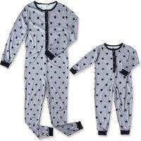Stars Printed One-piece Pajamas for Mama and Me