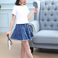 Trendy Solid Wave Skirt