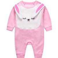 Baby Girl's Super Cute Long Sleeves Rabbit Design Jumpsuit