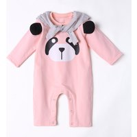 Baby's Lovely Long Sleeves Panda Design Jumpsuit with Scarf Set