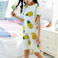 Soft Pineapple Print Short-sleeve Top and Shorts Lounge Set