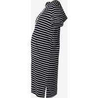 Maternity Casual Stripe Hoodie Dress