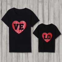 """Mommy and Me """"LOVE""""letter printed Short Sleeve T-shirt"""